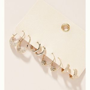 Anthropologie Helena Hoop Earring Set